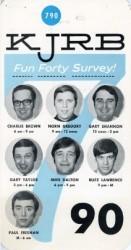 KJRB_1968_survey20card